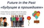 Future in the Past: примеры и способы образования