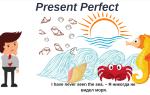 Present perfect примеры предложений