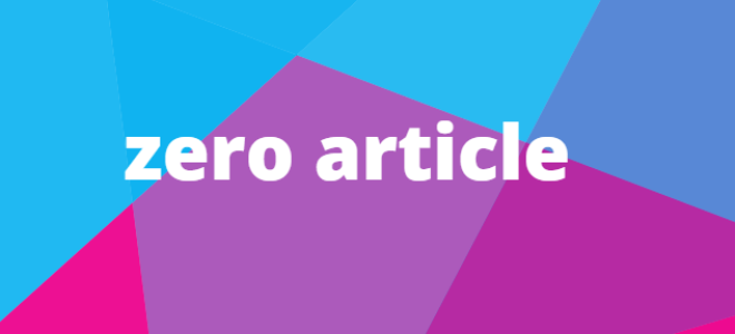 Zero article в английском языке