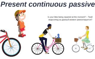 Present Continuous (Progressive) Passive