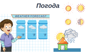 Описание погоды на английском языке