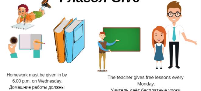 Глагол give не так и прост