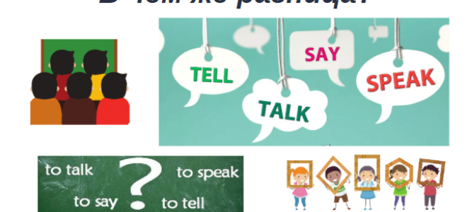 Правила применения say, tell, speak, talk