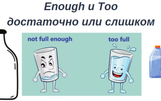 «TOO» И «ENOUGH» в английском языке