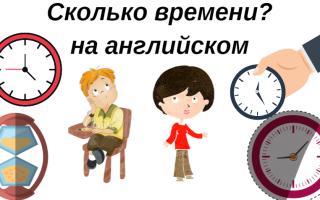 Тема часов в английском языке