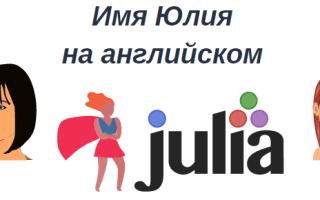Как правильно перевести имя Юлия на английский