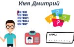 Способы написания имени Дмитрий