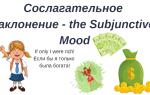 Сослагательное наклонение Subjunctive Mood
