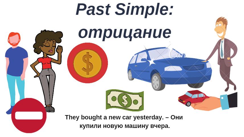 Past Simple отрицание смысловых глаголов